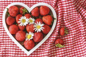 coeur fraises